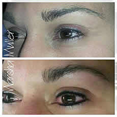 Enhance a natural eyeliner permanet make up